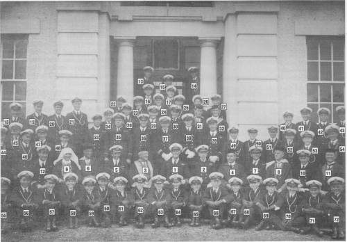 RANC Staff and cadets Taken on the last Sunday before the College closed at Jervis Bay, 22nd June 1930