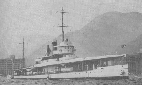 HMS Cockchafer at Hong Kong