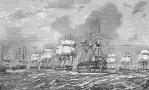 Sail Drill in HMS Endymion – Port Phillip Bay, 1869