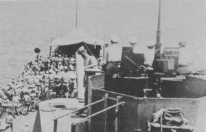 Concert Party onboard HMAS Shropshire during Pacific campaign WW2 (Photo: NHSA Archives)