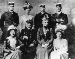Captain Hixson and family. One son, serving with the Queensland Naval Contingent, is not present.