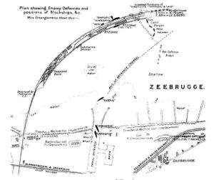 Map of Zeebrugge harbour
