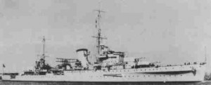 HMS Orion, Admiral Sir Bernard Rawlings' Flagship in the costly evacuation of Heraklion