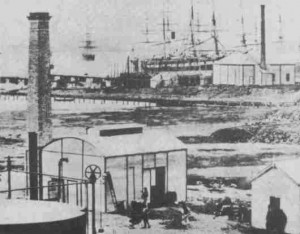 Area in which Graving Dock was built ca. 1860