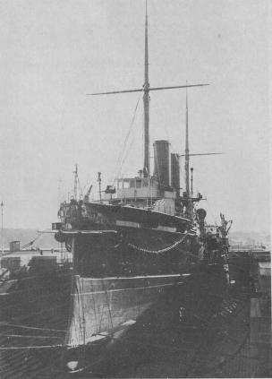 HMS Orlando, Cruiser, in Cockatoo Dock, 1887