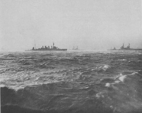 HMAS Sydney and ships of 4th Battle squadron at Scapa Flow