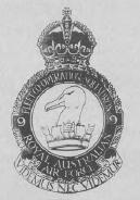 The badge of No.9 Squadron, Royal Australian Air Force. The Fleet Co-operation Squadron provided personnel for all ship-borne aircraft in the pre-Fleet Air Arm days.