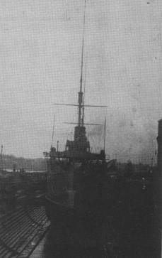 HMS CAMBRIAN in Sutherland Dock, Sydney.