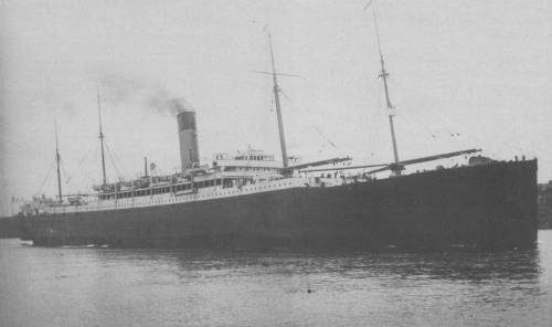 The White Star liner SS Ceramic, photographed from Dawes Point,  Sydney,  on her inaugural passage to Newcastle, NSW Sunday, 19 October 1924.
