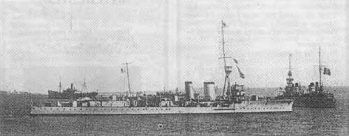 HMS CASTOR, leader of the Grand Fleet Destroyer Flotillas