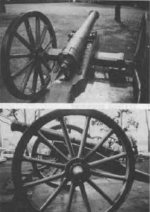 Historic guns in King's Park, Perth, Western Australia believed to be guns used by the Fremantle Naval Volunteers Circa 1870-1888.
