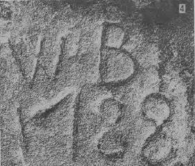 "Initials ""W.B."" - photo taken 1989"