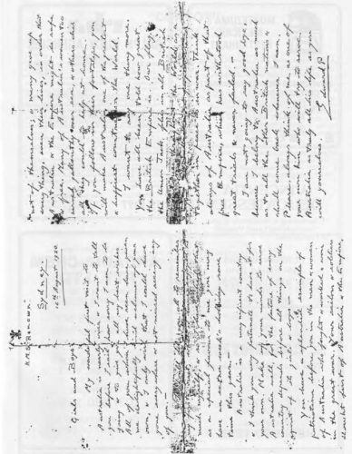 Letter written by Edward Prince of Wales (later EdwardIII) to Australian children dated 16 August 1920