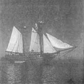 ENTERPRIZE which brought the first settlers to Victoria from Tasmania 1835 Photo courtesy of H. M. Tyrrell