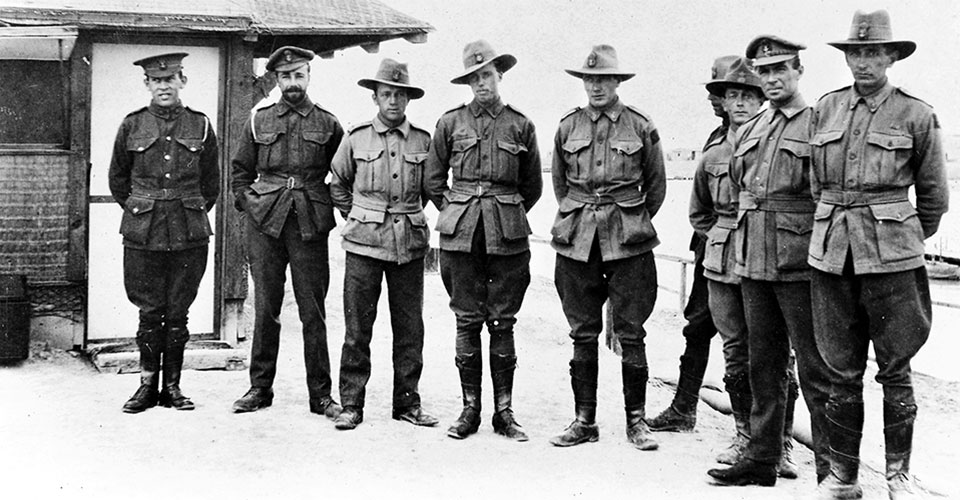 Chief Petty Officers of RAN Bridging Train during World War 1