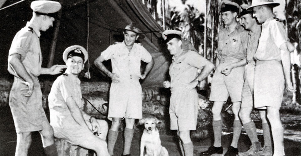 Coast Watchers and Naval Intelligence officers at Guadalcanal 1940s