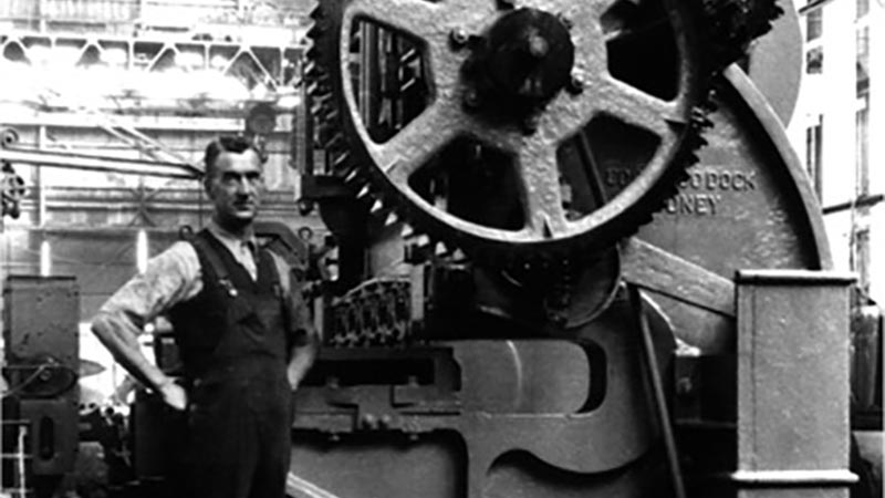 A heavy machine tool manufactured on Cockatoo Island during the 1930s