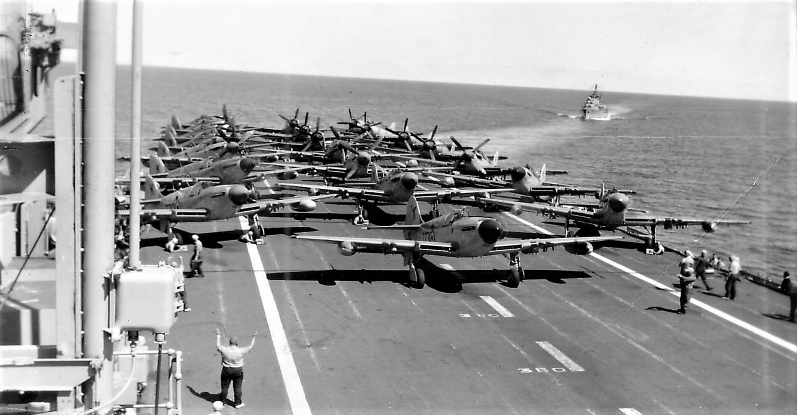 Fireflies on the deck of HMAS Sydney
