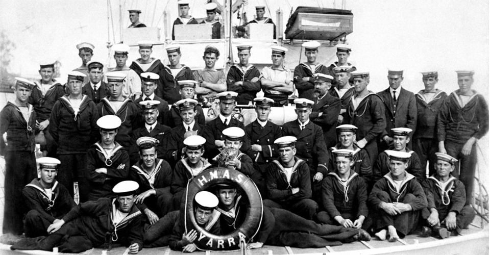 HMAS Yarra (1) commissioning crew 10 December 1910