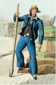 RN First Class Petty Officer, 1827 Note the rank badge on his left arm.