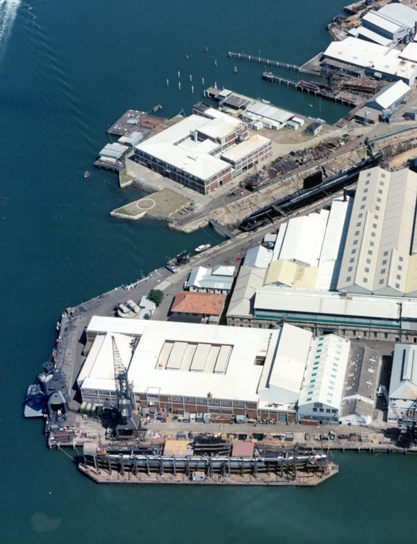 The submarine refit facilities on Cockatoo Island