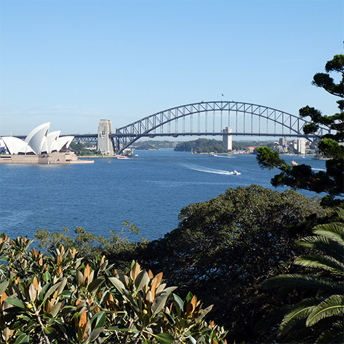 Sydney Harbour VIew west from Garden Island Hill April 2019