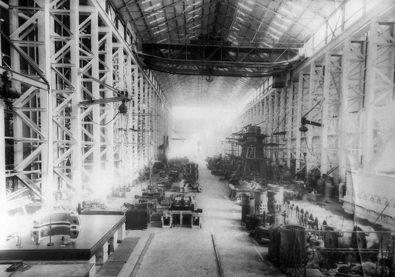 Completed in 1945, the Turbine Shop was the largest building on the Dockyard